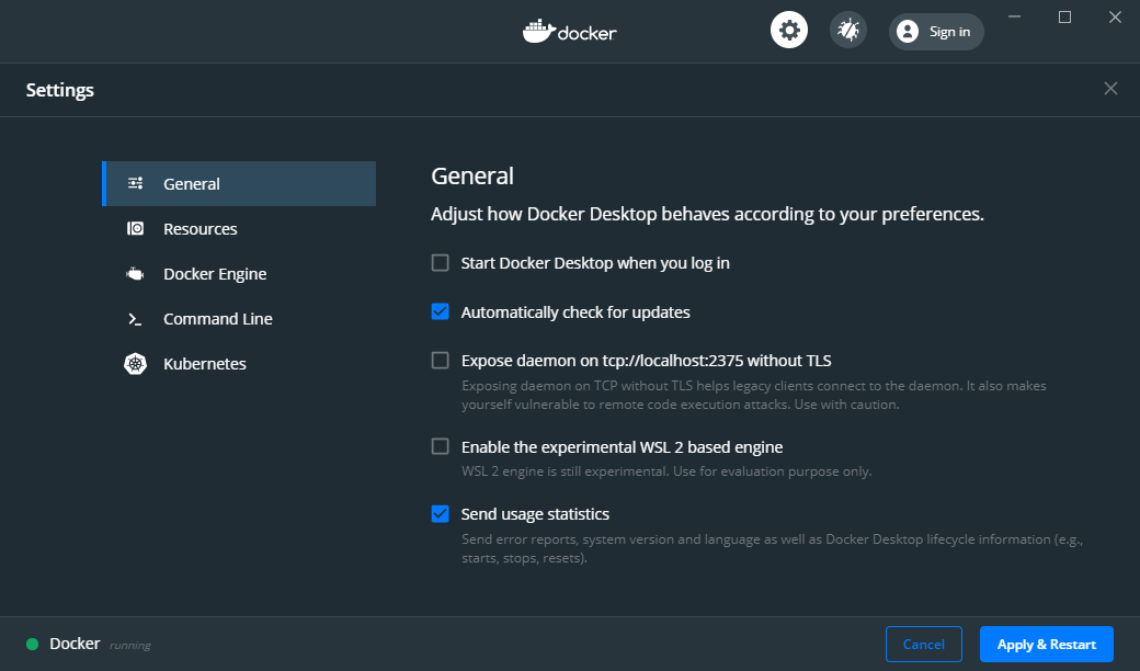 docker-settings-general